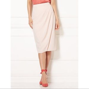 Eva Mendes Plus-Size Draped Blush Career Skirt